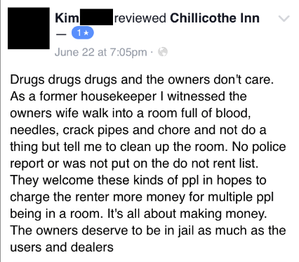 Facebook Group Mobilizes To Shut Down Suspicious Motel As Fear Of The 'Chillicothe Killer'Spreads