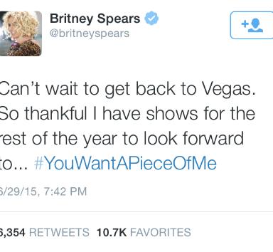 What Did Britney Tweet At Iggy?