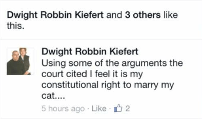 Spelling-Challenged State Senator Claims Marriage Equality Is A Victory For The MentallyIll