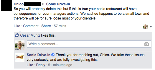 Facebook / Sonic Drive-In