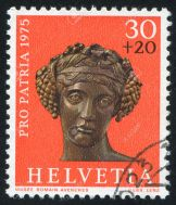 swiss stamp 1975