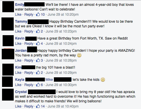 Facebook / Camden's 10th Birthday Party- An Open Invitation