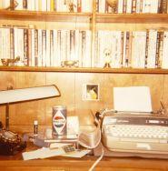 1975 desk with typewriter