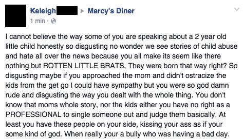 Facebook / Marcy's Diner