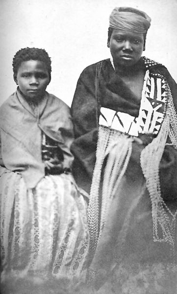 Depicts Nongqawuse, the Xhosan prophetess who preached the killing of all Xhosa cattle in the XIX Century