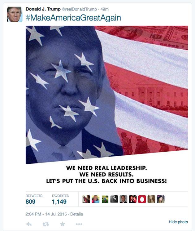Twitter/ Donald J. Trump