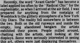 avant garde festival text