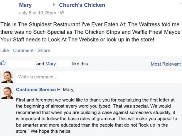 Facebook / Church's Chicken