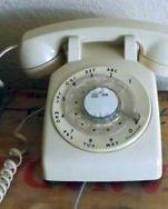 phone 1970s white
