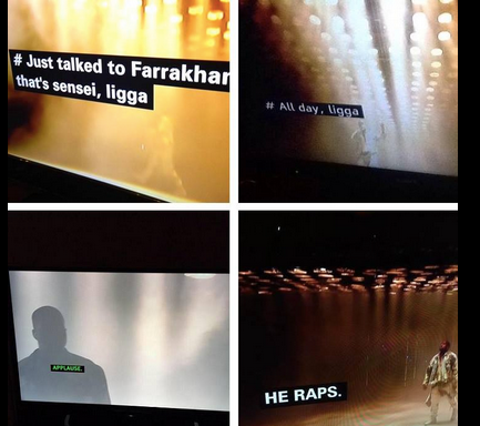 You Haven't Seen Anyone Give Up On Life As Hard As These Subtitle Writers Who Worked During Kanye'sConcert
