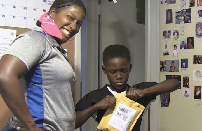 Watch This Sneaky Mom Pull A Hilarious Prank On Her 8-Year-Old Son's Birthday
