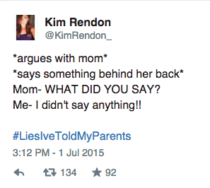 31 Hysterical #LiesIveToldMyParents From Kids Who Don't Regret Them At All