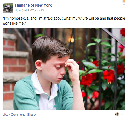 Facebook / Humans Of New York