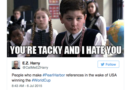 Twitter Compares USA's World Cup Victory To #PearlHarbor — Read 14 Cringeworthy Tweets And The EpicComebacks