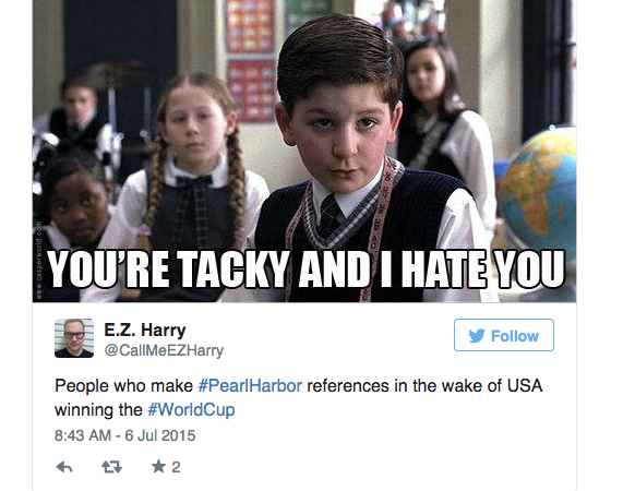 Twitter Compares USA's World Cup Victory To #PearlHarbor — Read 14 Cringeworthy Tweets And The Epic Comebacks