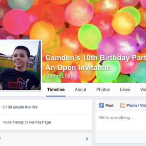 10-Year-Old With Special Needs Has The Massive Birthday Party Of His Dreams After It Goes Viral Online