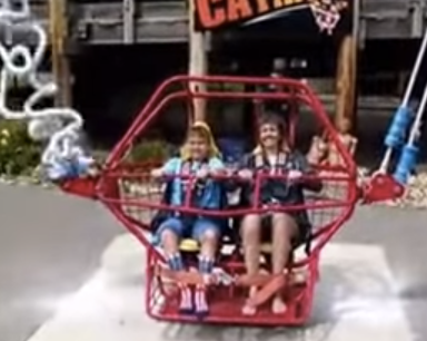 These Excited Amusement Park Guests Literally Almost Died On This Thrill Ride