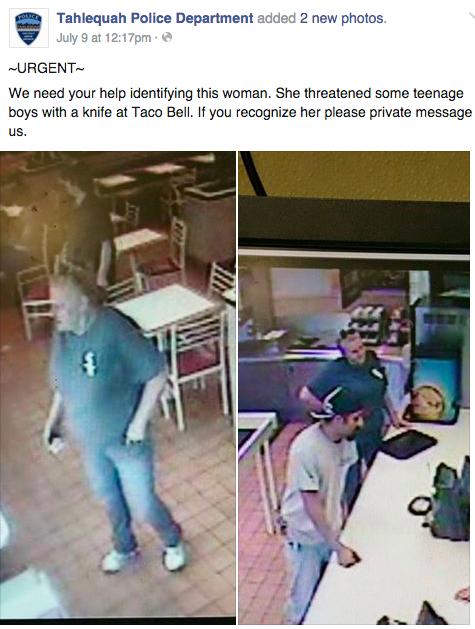 Facebook / Tahlequah Police Department
