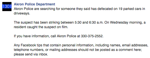 Facebook /  Akron Police Department