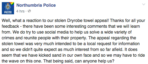 Facebook / Northumbria Police