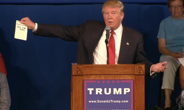 Donald Trump Gave Out Senator Lindsey Graham's Private Cell Phone Number During HisSpeech