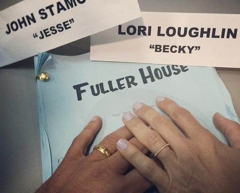 John Stamos Shares 'Fuller House' Photo Showing 'Uncle Jesse' and 'Aunt Becky' TogetherAgain