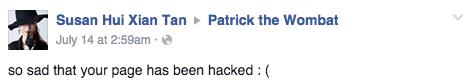 Facebook / Patrick the Wombat
