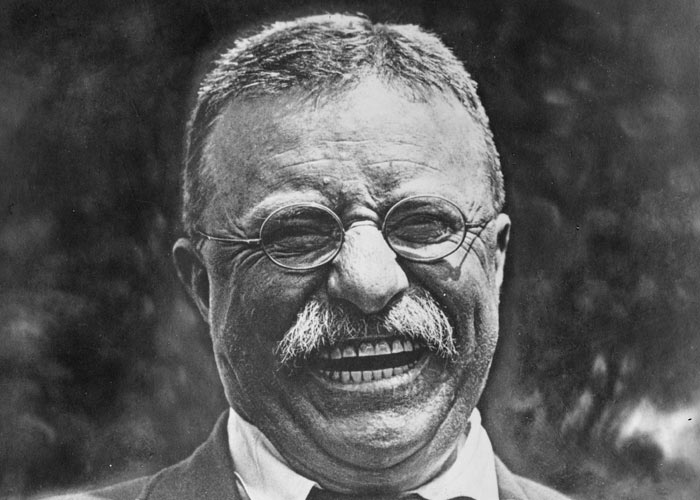 Theodore Roosevelt after drinking his daily gallon of coffee.  (Wikimedia Commons)