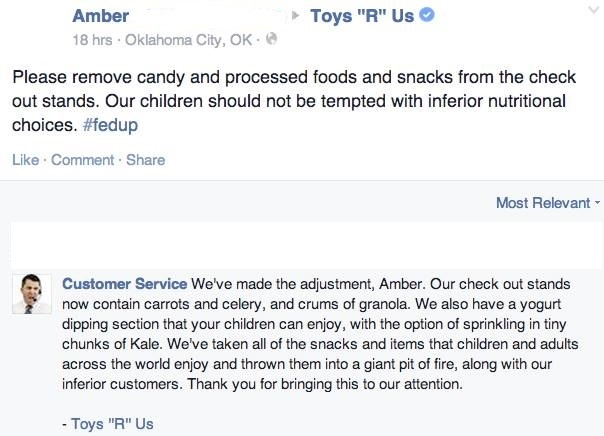 Facebook / Toys R Us