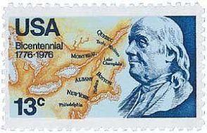 1976 ben franklin stamp