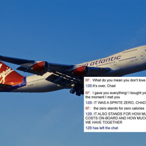Read These 9 Hilarious Transcripts From Virgin Airline's In-Flight Messaging System