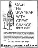 A&F new year's ad 1975