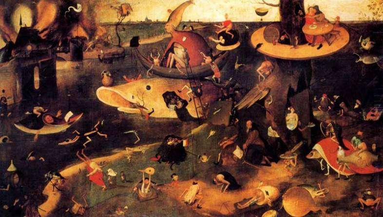 The Temptation of St. Anthony by Hieronymus Bosch.