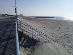 beach and boardwalk winter