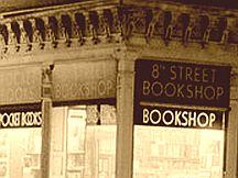 eighth street bookshop sign