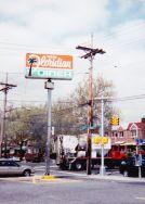 Floridian diner sign on corner