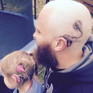 Awesome Dad Gets Implant Tattoo To Support His Deaf Daughter