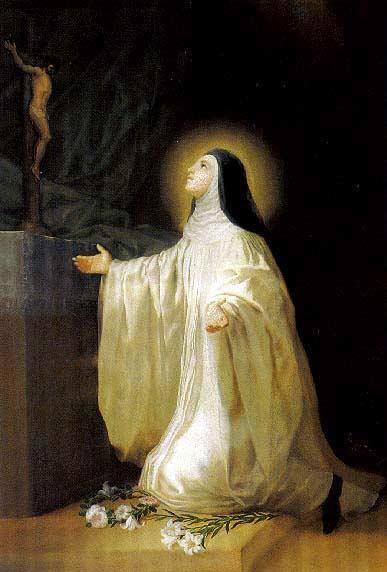 St. Lutgardis.  (Wikimedia Commons)