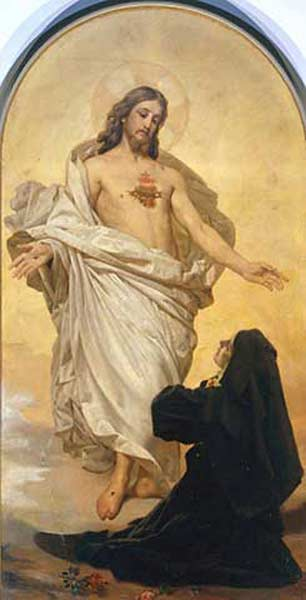 St. Margaret Mary, AKA St. Marguerite-Marie Alacoque.