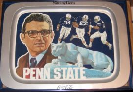Penn State 1976 metal tray joe paterno