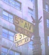 Rockefeller Center 5th Ave sign