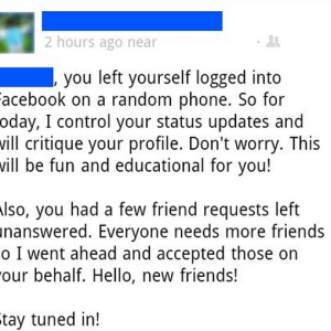 Man Forgets To Log Out Of His Facebook, Gets Hijacked By Hilarious Grammar Troll