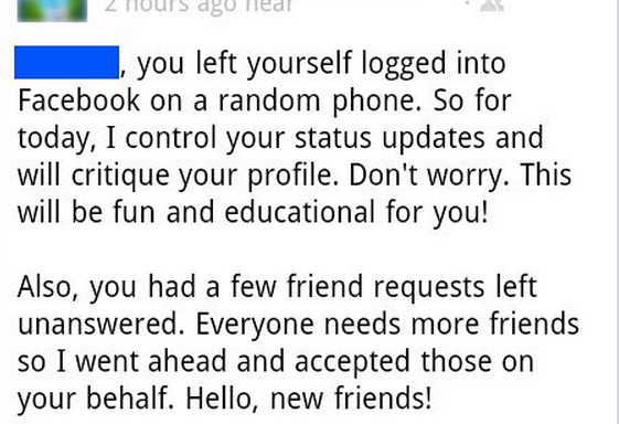 Man Forgets To Log Out Of His Facebook, Gets Hijacked By Hilarious GrammarTroll