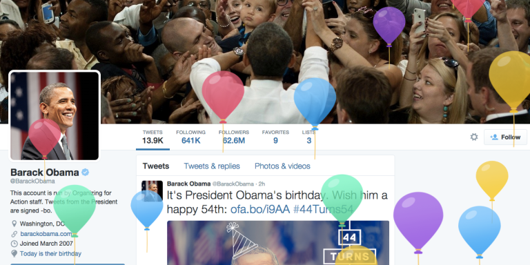 This Is Twitter's Birthday Present To President Obama And Now Everyone Wants A Piece OfIt