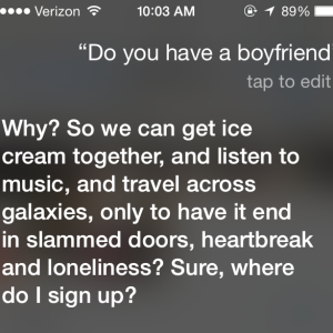 You'll Never Believe These 7 Sassy Responses Siri Gives When You Ask About Her Love Life