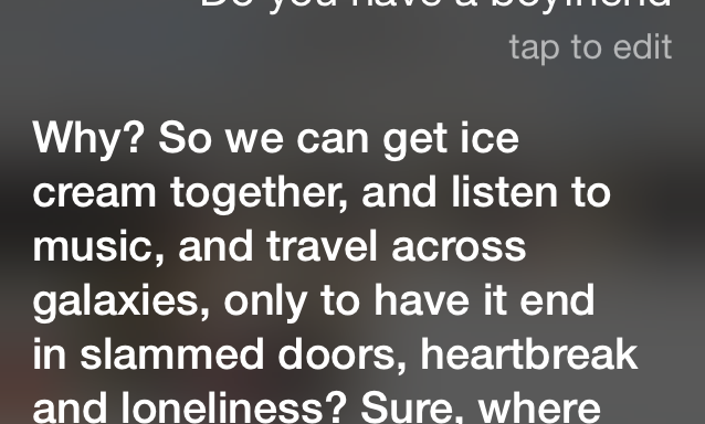 You'll Never Believe These 7 Sassy Responses Siri Gives When You Ask About Her LoveLife