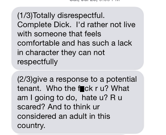 Read This Hilariously Bizarre Text Convo Between A Guy And His Potential Roommate