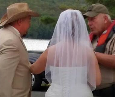 Did An Officer Tell This Couple He 'Didn't Give A Sh*t About Their Wedding' And Kick Them Out Of A Public Park?