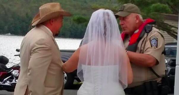 Did An Officer Tell This Couple He 'Didn't Give A Sh*t About Their Wedding' And Kick Them Out Of A PublicPark?