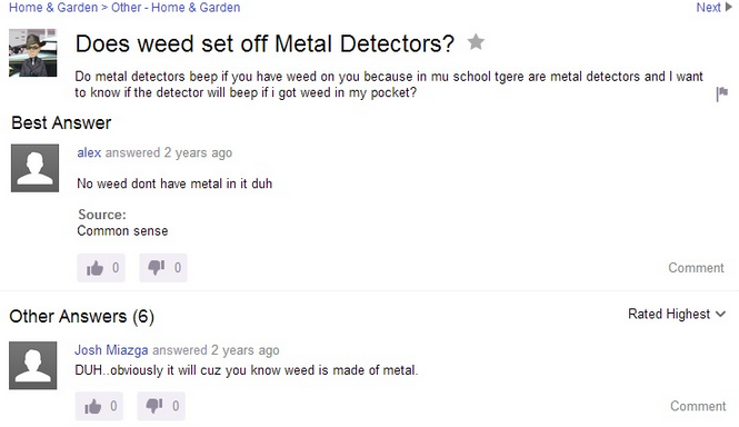 100 Truly Ridiculous Yahoo! Answers You Won't Believe People Submitted